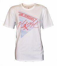 Nike Men's Air Jordan Jumpman Flight Basketball White T-Shirt