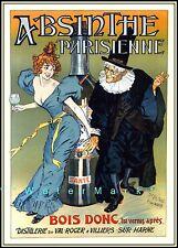 Absinthe Parisienne 1894 French Vintage Poster Art Print Liquor Advertisement