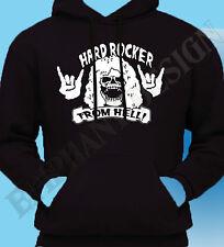 Hard Rocker From Hell Mens Hoodie Hoody T-Shirt Gig Heavy Metal Rock Saxo UFO