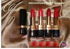 Covergirl Continuous colour LIPSTICK shades of RED sexy chilli vibrant RARE