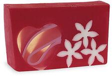PRIMAL ELEMENTS FLOWERS & HEARTS 6.0 OZ. VEGETABLE GLYCERIN BAR SOAP HANDMADE