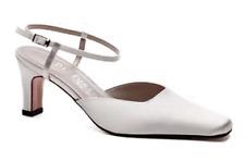Ivory satin wedding bridal bridesmaid shoes 3,3.5,4,4.5,5,5.5,6 Darcy