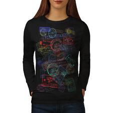TIMBRO POSTALE Viaggio Moda Donna manica lunga T-shirt Nuove | wellcoda