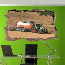 Attrezzature agricole Trattore Adesivi Murali 3D Arte Murale Camera Ufficio Negozio Decor UI1