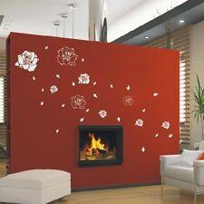 Elegante Fiore Rosa Fiore Wall art Adesivi Murali Adesivi Grafica -.d353