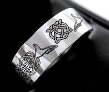 Claddagh Ring, Celtic Wedding Band, Love Knot Ring, Mens Women Scottish Ring, Me