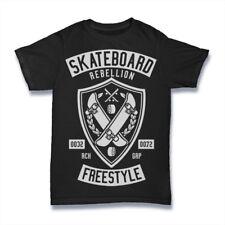 Skateboard Rebellion T-Shirt. 100% Cotton Premium Tee NEW