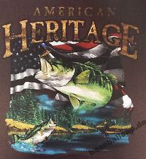 T-shirt #272 American Heritage fish flyfishing, pescadores camisa, fishing