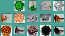tamaño mediano Corte Cristal Armario y armario tiradores 40mm Varios Colores