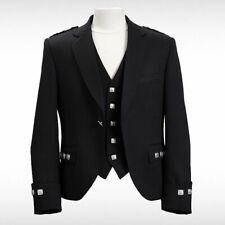 """New Argyle Kilt Jacket With Waistcoat/Vest - Sizes 36""""- 54"""""""
