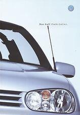 VW Golf Cabriolet Prospekt 1999 4 99 brochure Autoprospekt Auto PKWs Deutschland