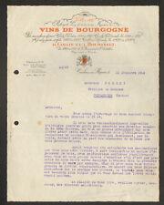 """CRECHES / MACON (71) VINS de BOURGOGNE """"COLLIN & BOURISSET"""" en 1925"""