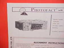 1966 CHRYSLER IMPERIAL 300 NEWPORT NEW YORKER AM RADIO SERVICE MANUAL BROCHURE