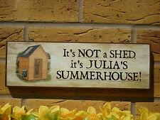 Personnalisé appartement signe transat log cabin nom signe jardin buildings