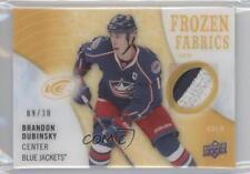 2014-15 Upper Deck Ice Frozen Fabrics Gold #FZF-BD Brandon Dubinsky Hockey Card