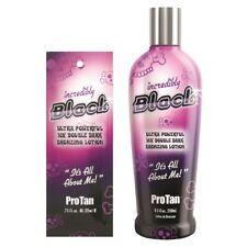 Pro Tan Incredibly Black bronzer sunbed tanning lotion cream SACHETS or BOTTLES