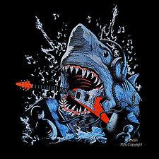 * Gitarre Rock Shark Hai DJ Sound Anlage Music Gitarren T-Shirt *2069