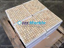 Travertine Mosaic Tiles, Gold Travertine Mosaic Tiles, Marble,Limestone, 25x25mm