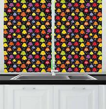 "Tree Kitchen Curtains 2 Panel Set Window Drapes 55"" X 39"" Ambesonne"