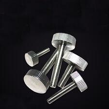 M3 M4 Thumb Screws Flat Head Knurled Screw Stainless Steel GB835 Bolts