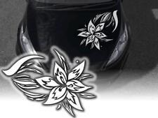 Autoaufkleber Aufkleber Hibiskus Blume Tribal Blumen Auto Elegant Klebefolie