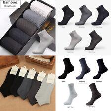 6x Men Bamboo Fiber Socks Business Anti-Bacterial Deodorant Breathable Sock LOT
