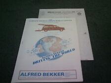 1989 ALFRED BEKKER DISABLED HAND CONTROLS / STEERING & DRIVING AIDS UK BROCHURE