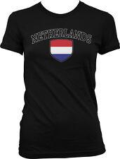 Netherlands Flag Crest Dutch National Soccer Football Sports Juniors T-shirt