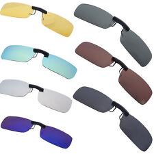 Men Women Sunglasses Polarized Clip On Night Vision Lens Driving Glasses 7 Color