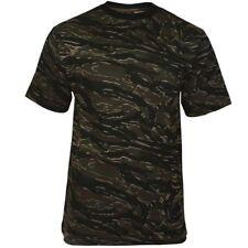 Mil-Tec Homme US Armée T-Shirt Militaire 100% Coton Tiger Stripe Camo S – 3XL
