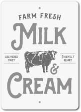 Milk & Cream Sign, Farm Fresh Milk Sign, Dairy Cow Decor ENSA1003017