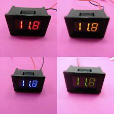 """2 Wire DC Voltímetro Digital 2.5-30V mini pantalla 0.36"""" Panel de tensión de la batería"""