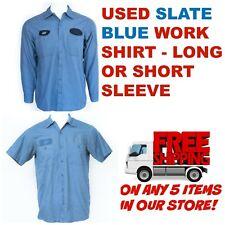 Used Work Shirts Cintas, Redkap, Unifirst, G&K Slate Blue