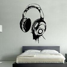 cuffie DJ adesivo artistico da parete Cameretta ragazzi bambini BR54