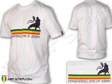 Tee Shirt Rasta Rastafari Line Conquering Lion of Judah Jah Star Wear