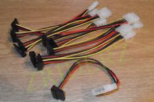 SATA Strom Kabel Adapter 4 PIN Stecker auf S-ATA Buchse gewinkelt 15cm NEU