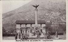 #CAPISTRELLO: MONUMENTO AI CADUTI