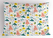 Heels and Dresses Pillow Sham Decorative Pillowcase 3 Sizes Bedroom Decor