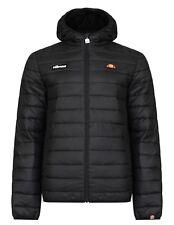 Ellesse Lombardy Padded Puffer Jacket Mens Warm Winter Hooded Winter Coat Black
