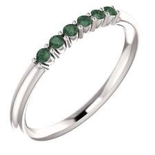 Genuine Alexandrite Stackable Ring In Platinum