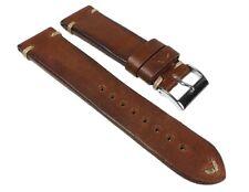 Vintage-Pony Cinturino pelle di Cavallo Cinturino Marrone Scuro 24511S
