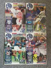 Bolton Wanderers Football Programmes (Season 1999/2000)
