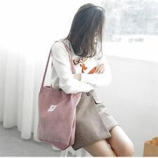 Corduroy Large Capacity Zipper Handbag Shopping Bag Tote Shoulder Beach Bag Shan