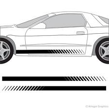 Pontiac Firebird & Trans Am Faded Rocker Panel Racing Stripes 3M Vinyl Decal Kit