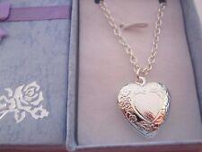 "Childrens Heart Locket  14"" Chain Girls Jewellery Xmas Stocking Filler Gift"
