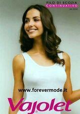 Canotta donna Vajolet in filo scozia a spalla larga con profili in raso art 5131