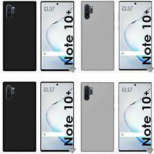 Housse etui coque silicone gel fine Samsung Galaxy Note 10+ Plus + film ecran
