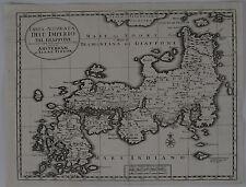 Japan Nippon Kupferstichkarte Isaak Tirion Venedig 1740 Asien Giappone