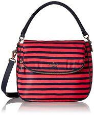 Kate Spade Women Classic Nylon Small Devin Crossbody Bag Black  Geranium/Navy