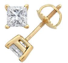 Diamantohrstecker 0.60 Karat aus 585/14K Gold (F-G/SI1) Zertifiziert